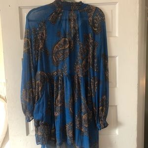 Free People sheer paisley dress